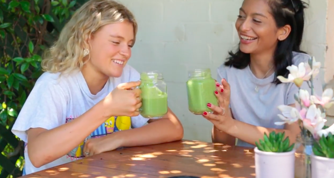 Smoothies with Kath and Yasmin Suteja